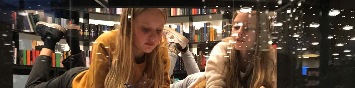 To læsende piger